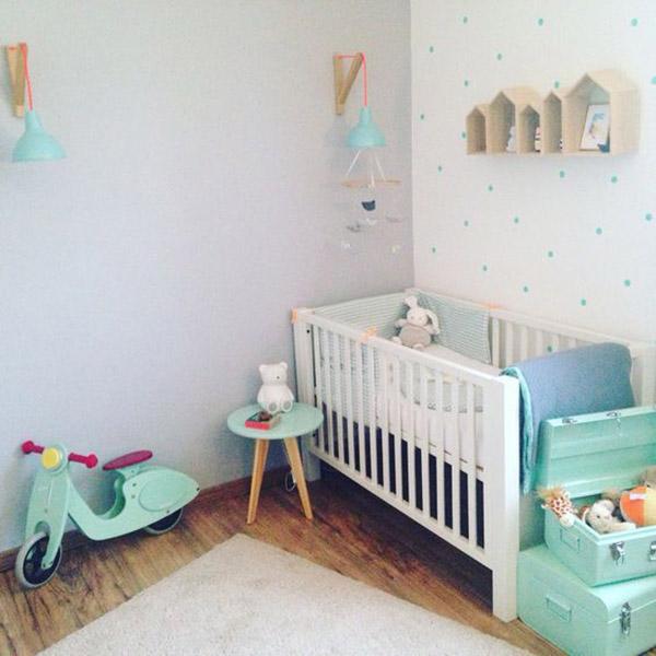 5 formas de decorar cuartos de beb con cunas blancas - Textil habitacion infantil ...