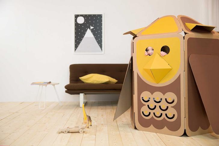 Casas de cartón en forma de animales