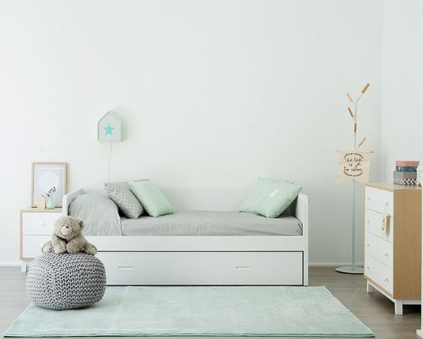 Camas de ni as las 30 camas m s bonitas decopeques for Cama nido blanca para nina