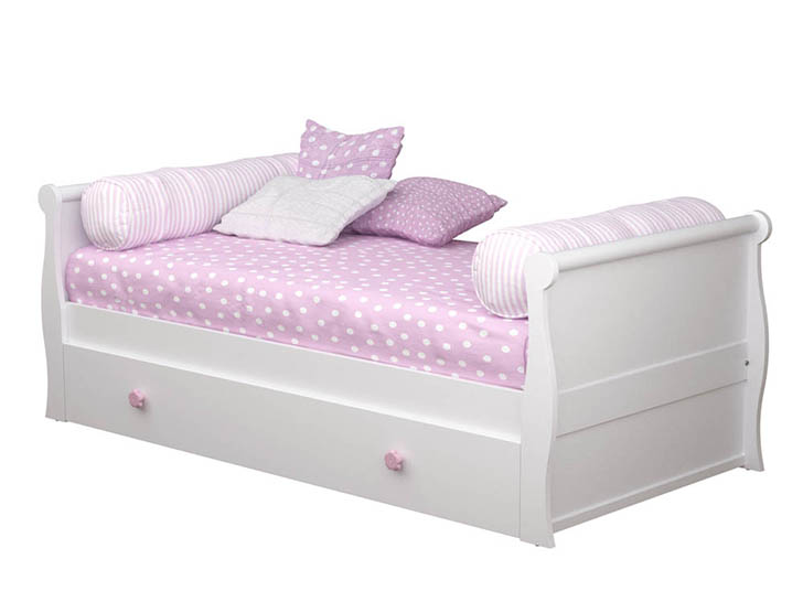 La cama nido m s especial de bainba decopeques - Cama nido blanca con cajones ...