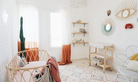 Habitación de bebé con aires boho chic