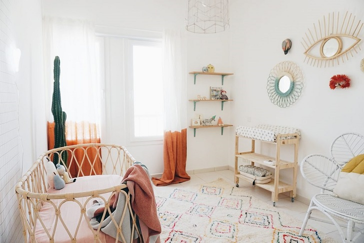 Habitaci n de beb con aires boho chic decopeques - Habitacion para bebe ...