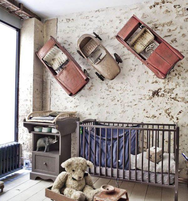 Habitaciones de bebé vintage y muy originales