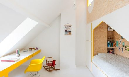 Mueble original y multiusos para una habitación compartida