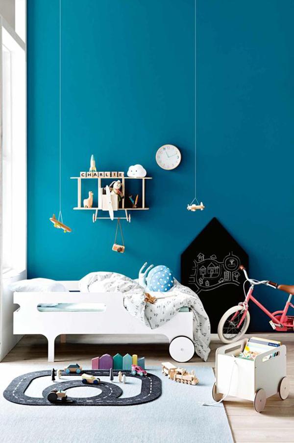 5 habitaciones originales y divertidas en azul decopeques - Habitaciones infantiles azules ...
