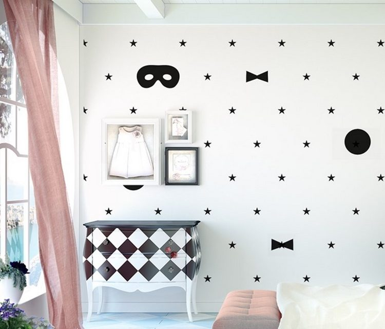Ideas para decorar una pared infantil sin pintura decopeques - Ideas pintura paredes ...