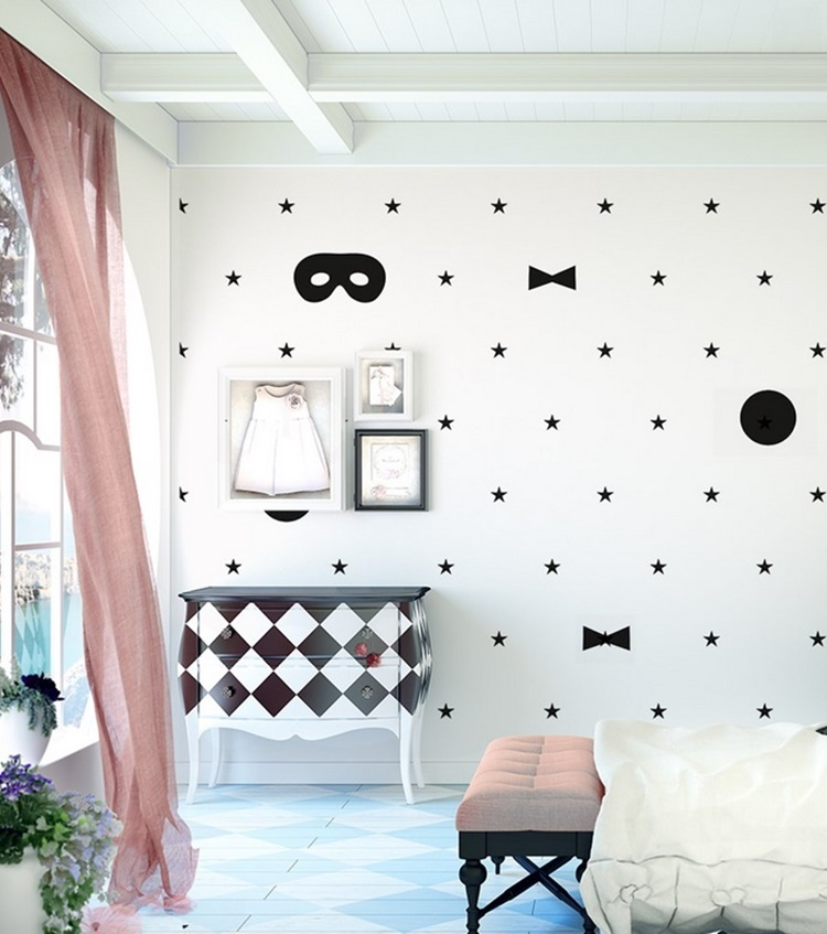 Ideas para decorar una pared infantil sin pintura decopeques for Como decorar una pared con pintura