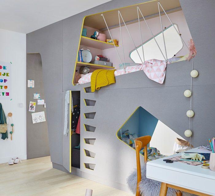 Una habitación doble separada por una litera muy especial