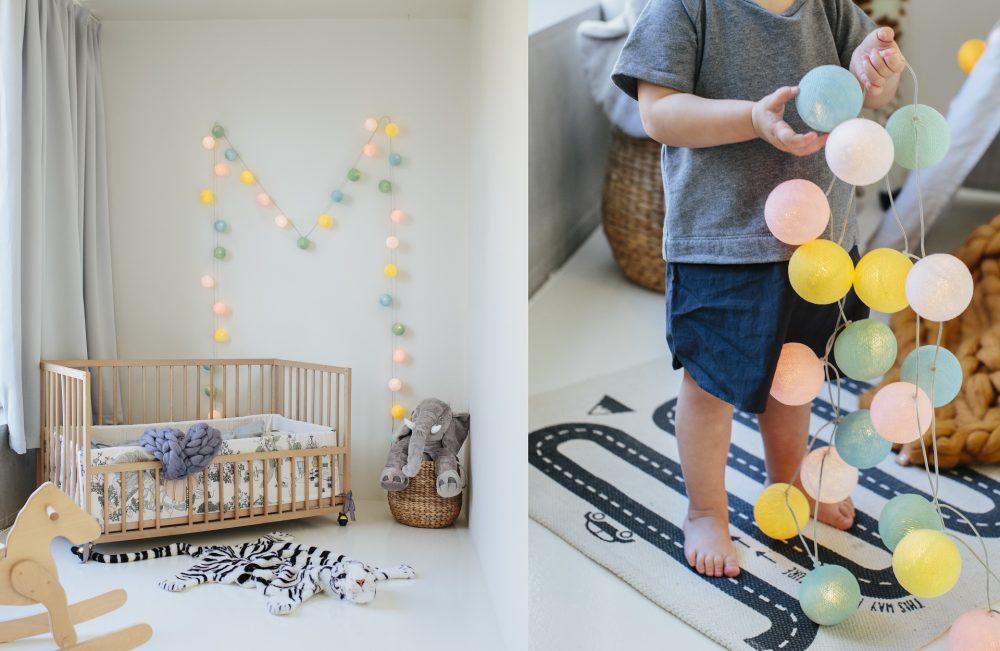 Habitaciones infantiles con guirnaldas de luces decopeques - Habitaciones con luces ...