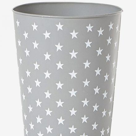 Papelera estrellas gris