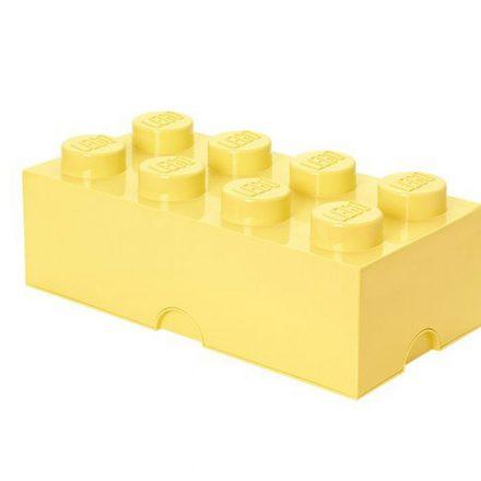 Brick Lego de Almacenamiento 8 Amarillo Pastel