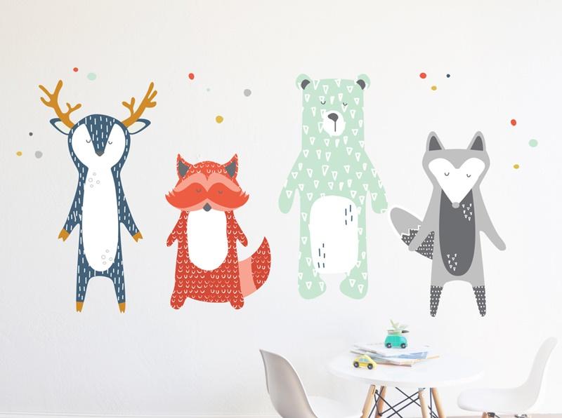 Pegatinas para paredes infantiles top beautiful vinilos for Pegatinas decorativas pared infantiles