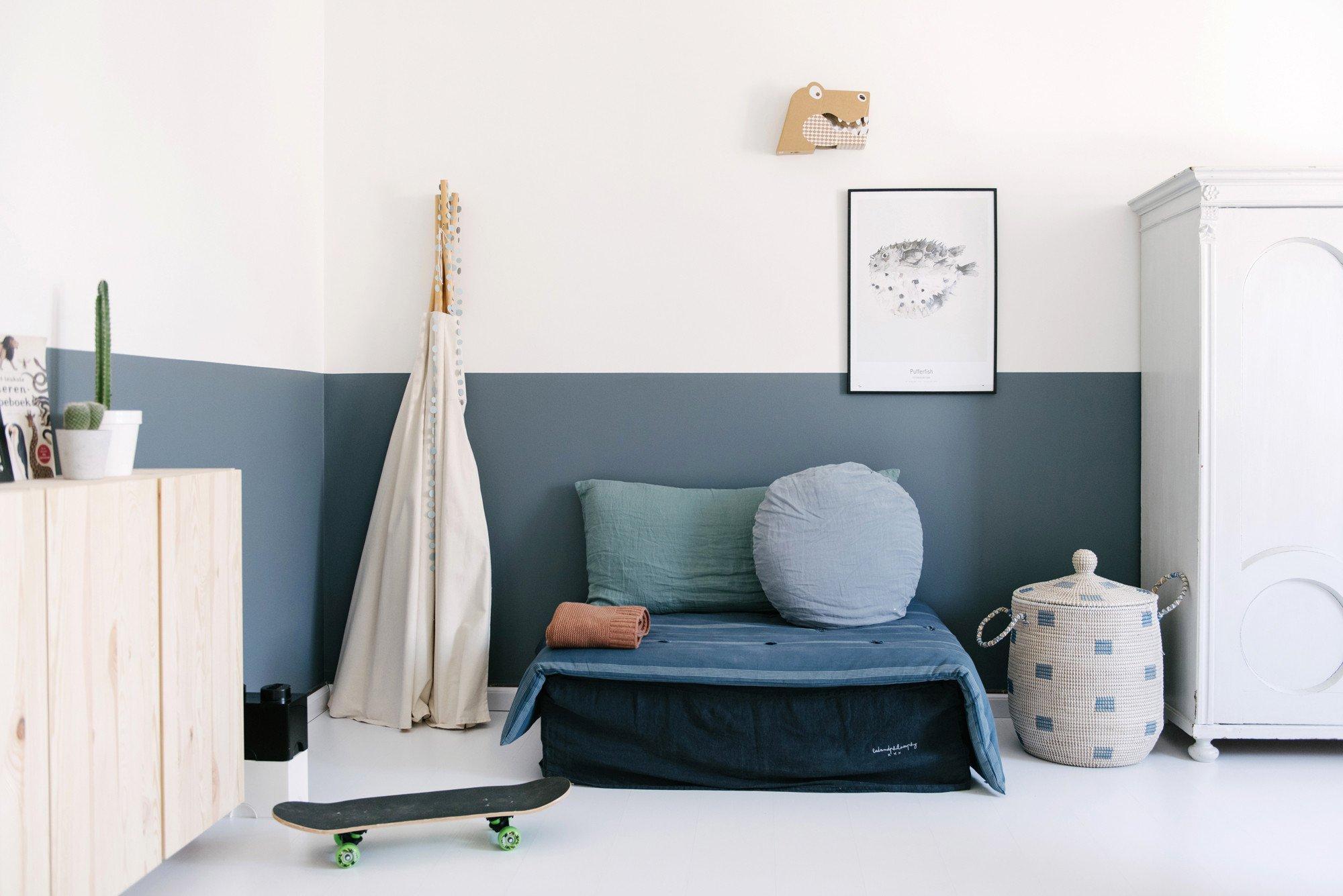Habitaciones infantiles con colores fr os decopeques - Habitaciones infantiles azules ...
