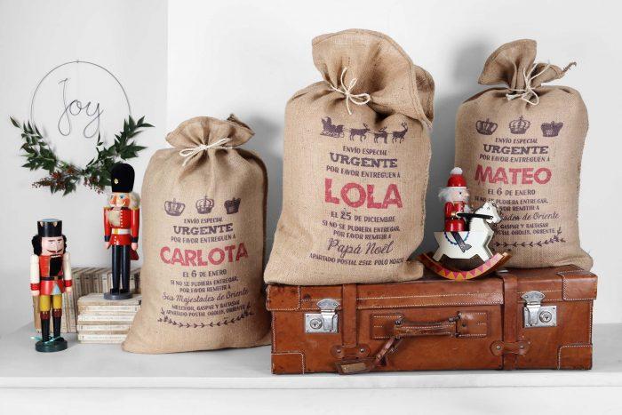 Sacos de xmas bag para una navidad personalizada decopeques - Regalos navidad mama ...