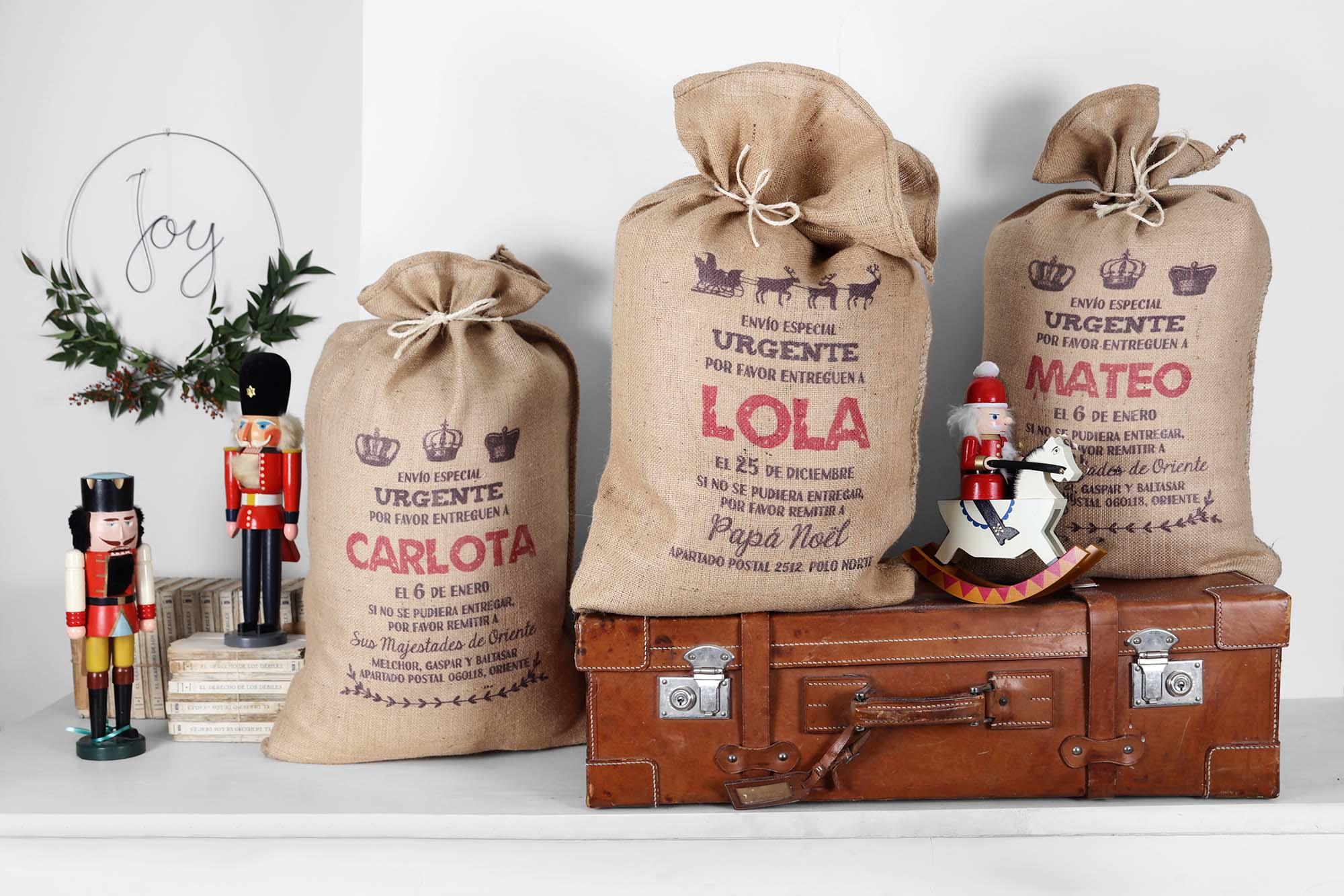 Sacos de xmas bag para una navidad personalizada decopeques - Regalos de muebles gratis ...