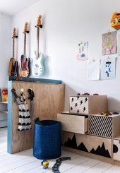 ¿Un dormitorio infantil o un estudio de música?