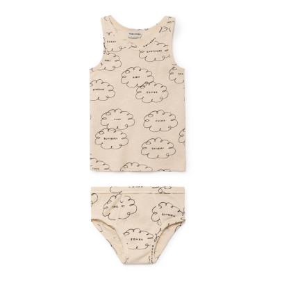 Conjunto Camiseta+Slip Nubes Algodón Biológico