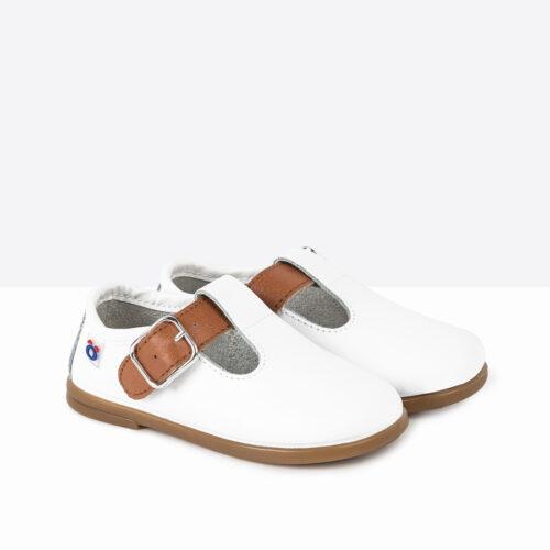 Zapatos de Bebé Piel Blanco