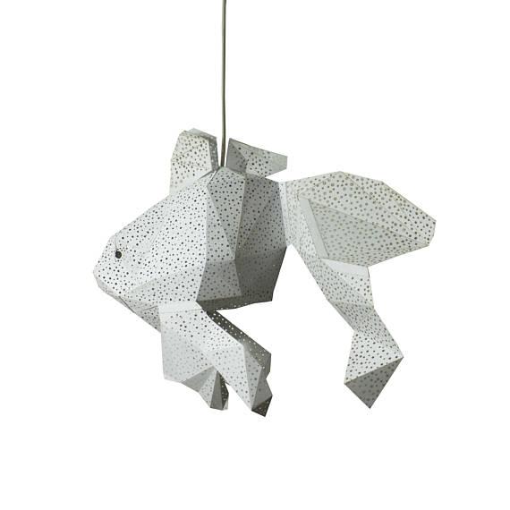 Lámpara Pez blanco