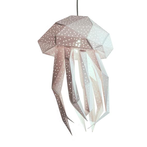 Lámpara Medusa blanca
