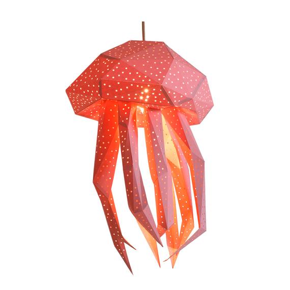 Lámpara Medusa rosa