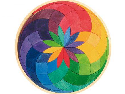 Mandala Madera Espiral