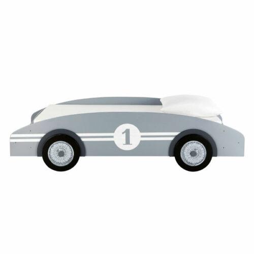 Cama-coche infantil 90 × 190 cm de madera gris Circuit