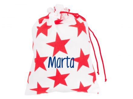 Bolsa Merienda Personalizada Star Nido Rojo