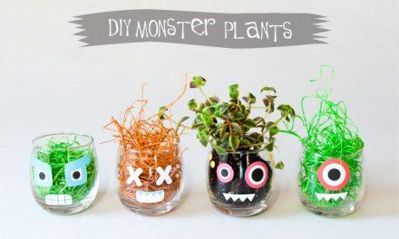 Diy de Halloween: monstruosas plantas