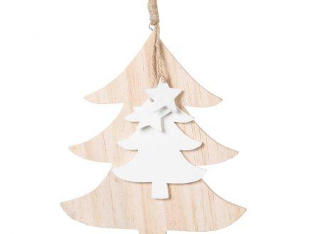 Adorno de Navidad árboles y estrellas