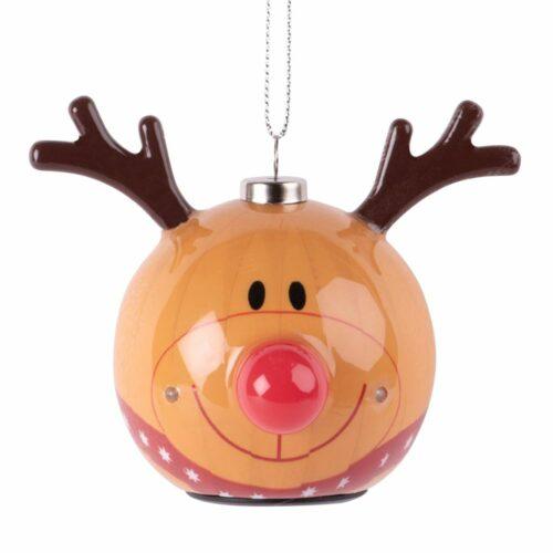 Adorno de Navidad de LED con cabeza de ciervo de papel