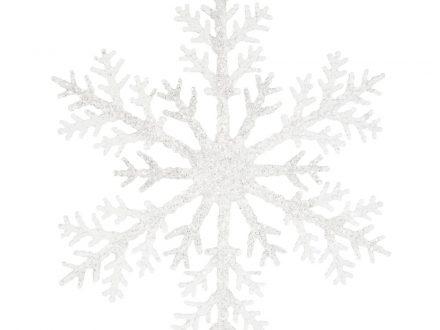 Adorno de Navidad en forma de copo de nieve plateado y perlas de cristal