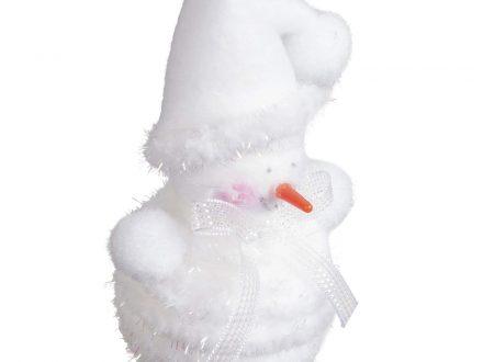 Adorno en Navidad muñeco de nieve blanco