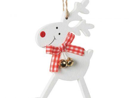 Adornos de Navidad de ciervo blanco