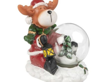 Bola de Navidad de cristal con ciervo