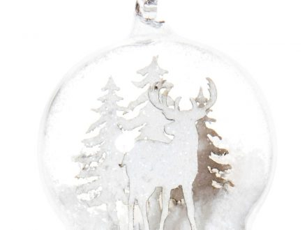Bola de Navidad de cristal con decoración de paisaje