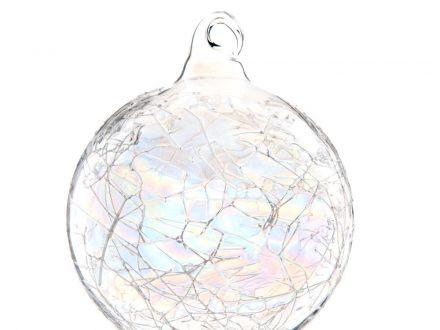 Bola de Navidad de cristal irisado con efecto quebrado