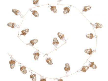 Guirnalda de Navidad con bellotas doradas L.110