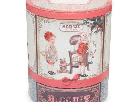 Vela de Navidad perfumada de bizcocho de cristal con estampado