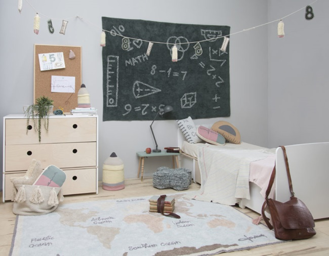 Back to School by Lorena Canals, textiles inspirados en el mundo escolar